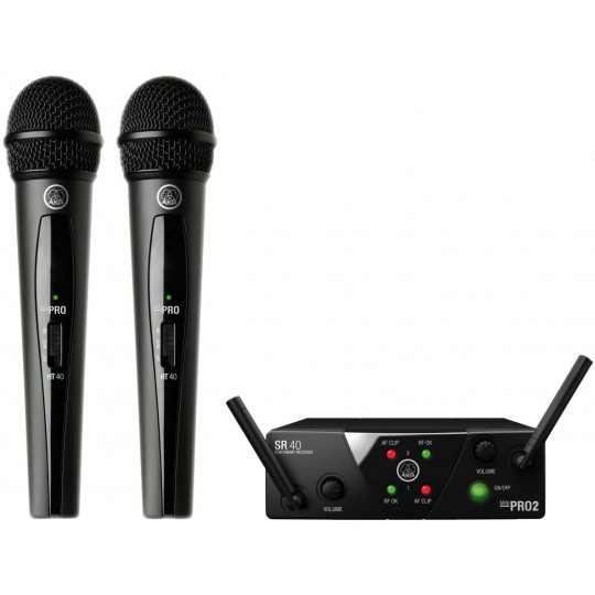 AKG WMS 40 MINI Vocal set DUAL - bezdrátový systém