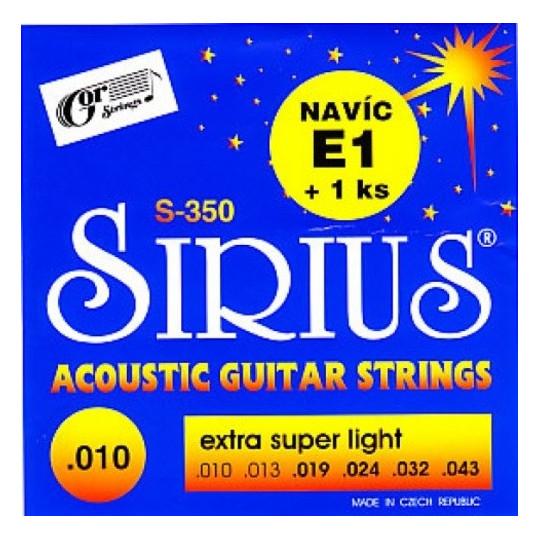 Sirius S-350 struny kytarové