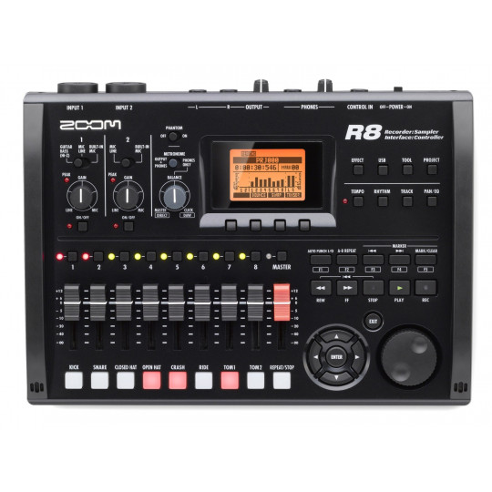 ZOOM R 8 - Recorder, Interface, Controller, Sampler