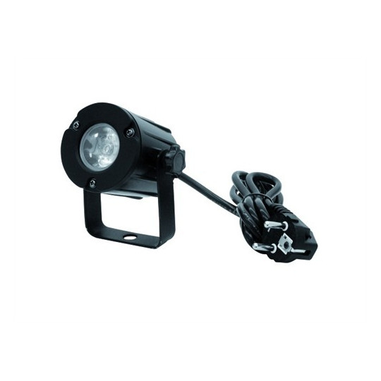 Eurolite LED spot 3W, 6000K, 6°, černý