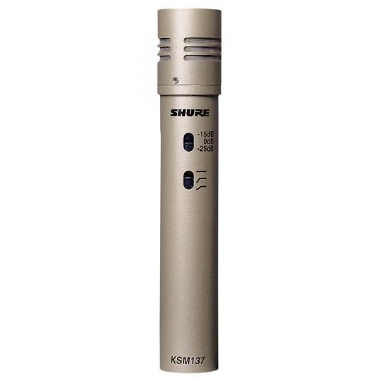 SHURE KSM137/SL - kondenzátorový mikrofon studiový s kufrem