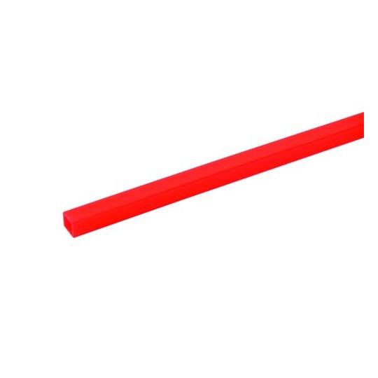Profil 10x10mm, UV červený, 2 m