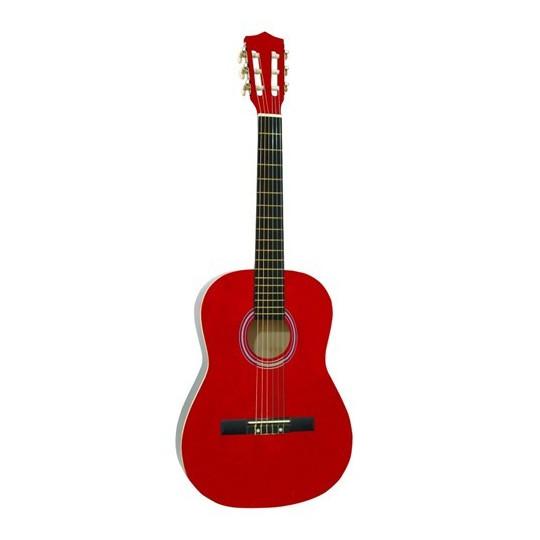 Dimavery AC-300 klasická kytara 3/4, červená