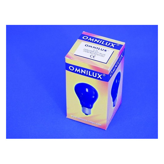 230V/25W E27 A19 Omnilux, modrá