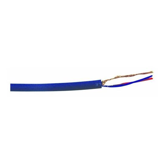 Omnitronic mikrofonní kabel, 2x 0,22qmm stíněný, modrý