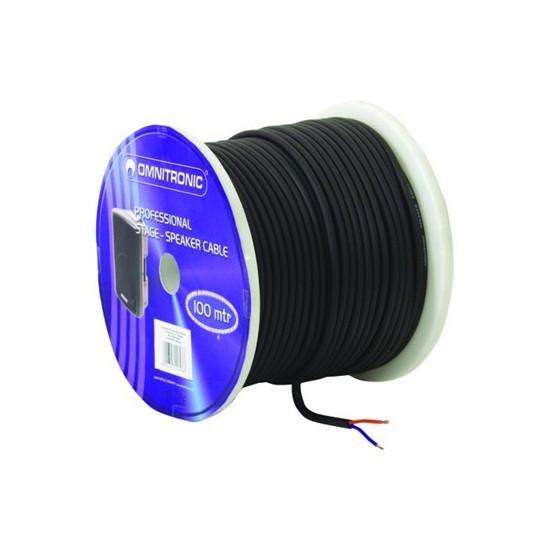 Kabel reproduktorový 2x1,5mm, černý, cena / m