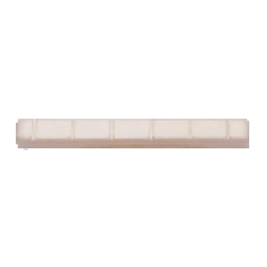 Plastové sedlo Fire&Stone Před-vrubované, 51,7 x 6,0 x 9,5-9,0 mm Koncertní kytara