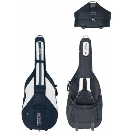 Gig Bag pro kontrabas JAEGER ROLLY 3/4 černá/antracitová