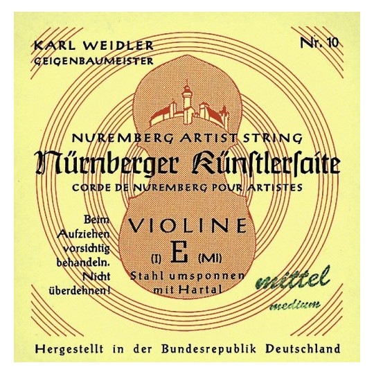 Nürnberger struny pro housle Maestro 1/16 E ocel