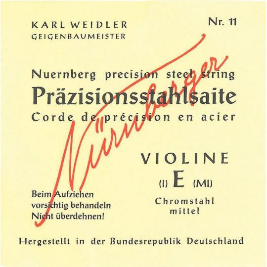 Nürnberger struny pro housle Precise 1/16 E chrom. Ocel