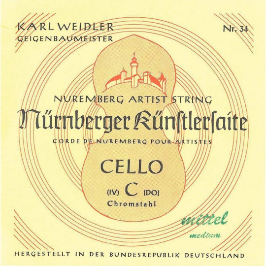 Nürnberger struny pro čelo Artist 4/4