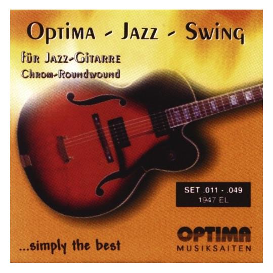 Optima struny pro E-kytaru Jazz Swing série Round Wound Sada