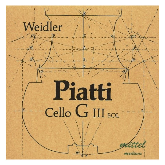 Piatti Piatti struny pro čelo Silné