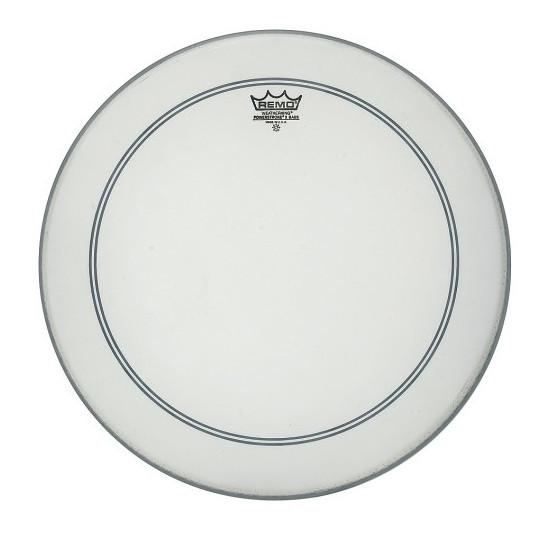 """Remo Powerstroke 3 Bílá, zdrsněné na bas drum 24"""" P3-1124-C2"""