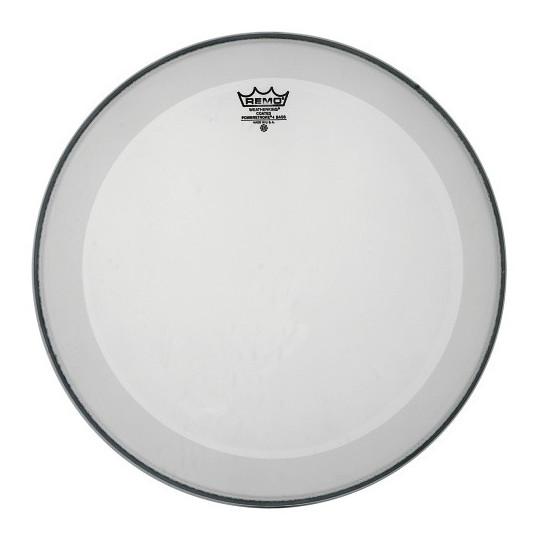 """Remo Powerstroke 4 Bílá, zdrsněné na bas drum 24"""" P4-1124-C2"""