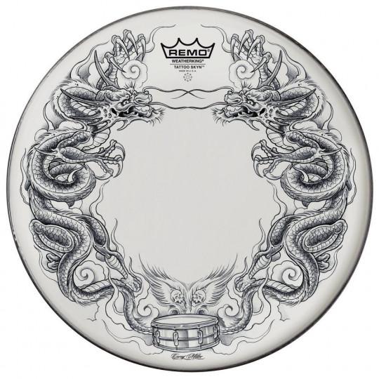 """Remo Tattoo Skyn Powerstroke 3 Bass drum 22"""" Tattoo Dragon Skyn/white PA-1322-TT-T06"""