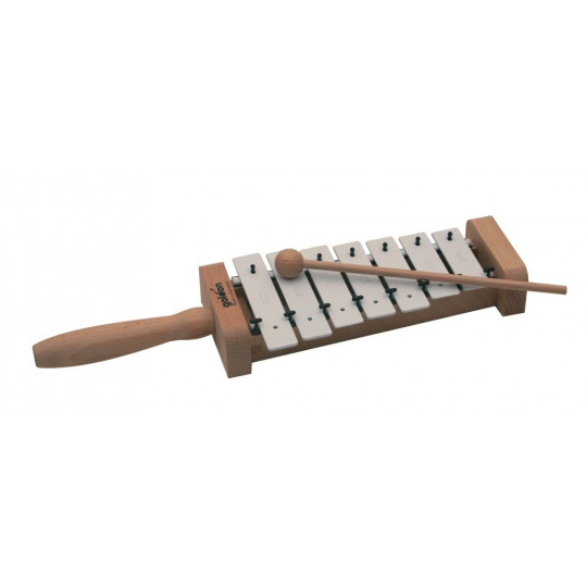 GOLDON - pentatonický metalofon s držadlem - 7 kamenů (11027)