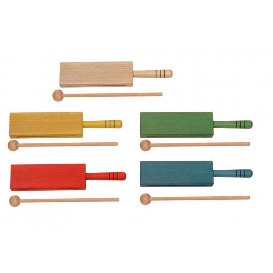 GOLDON - wood block s rukojetí různé barvy (33312-33318)