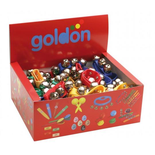 GOLDON - 4 rolničky na barevném řemínku- 50 kusů (33409)