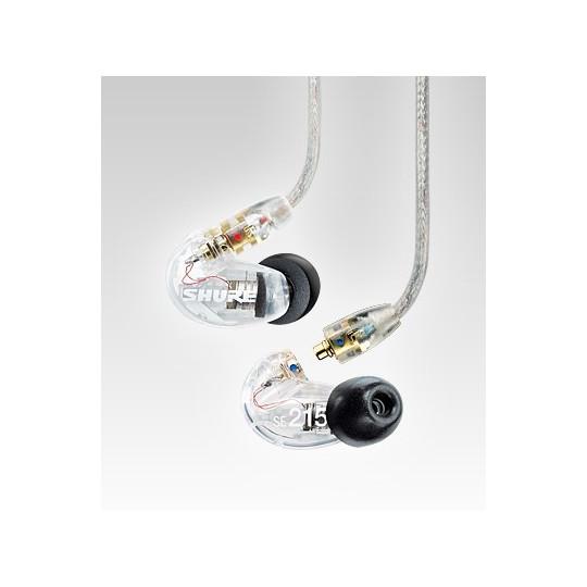SHURE SE215-CL-E - dynamická single driver mikro sluchátka(průsvitná)