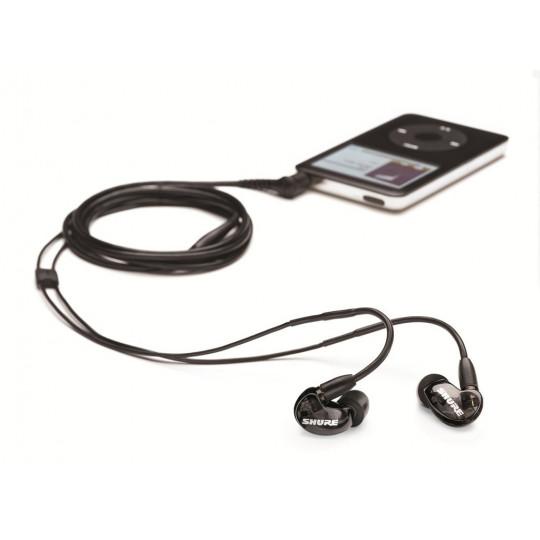SHURE SE215-K-E - dynamická single driver mikro sluchátka(černá)