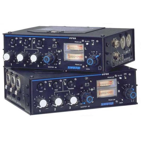 SHURE FP33 - mikrofonní mix na bater. 3 vst, 2výst.