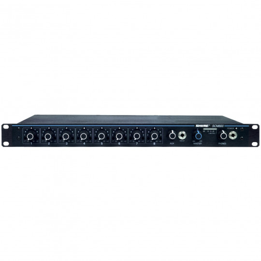 SHURE SCM800E - 8-kanálový mikrof.mix, do racku