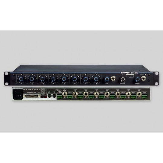 SHURE SCM810E - 8-kanálový automatický mikrof.mix do racku