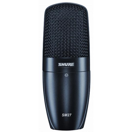 SHURE SM27-LC - studiový kondenz.kardioid.mikrofon,závěs