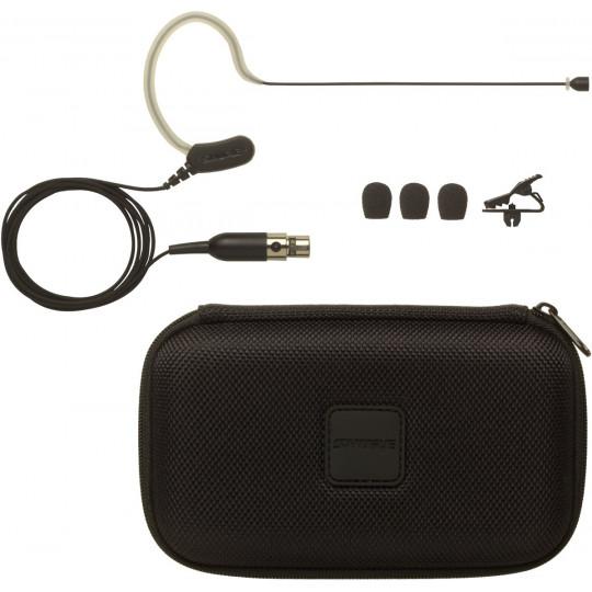 SHURE MX153T/O-TQG - miniaturní náhlavní mic, kulová ch., mini-XLR, tan