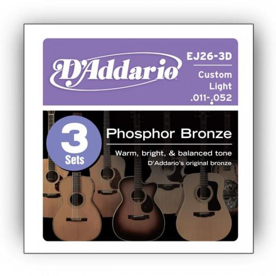 D'Addario EJ26-3D - struny pro akustickou kytaru