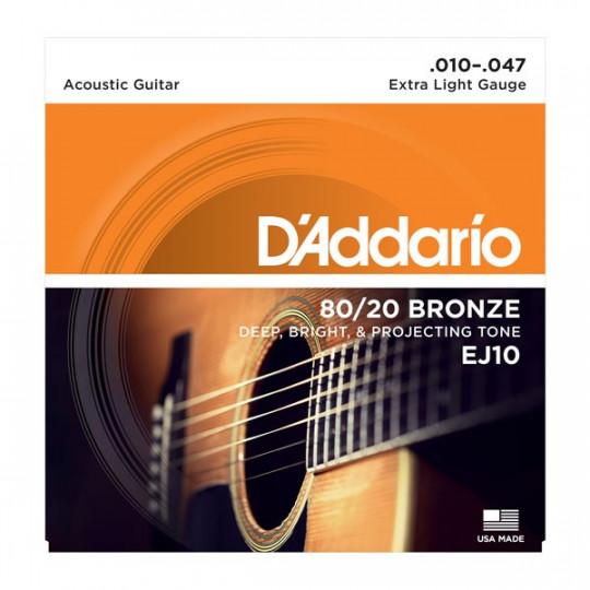 D'Addario EJ10 - struny pro akustickou kytaru