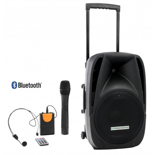 """Pronomic Aktivní box 15"""" s akumulátorem MP3/BT/MIC/Headset"""
