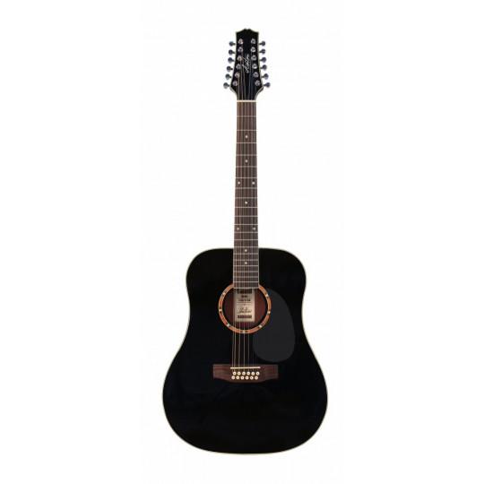 Ashton D25/12 BK - 12-ti strunná kytara