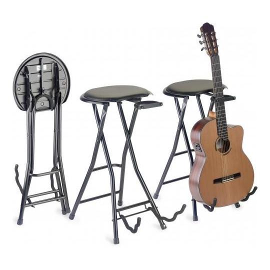 Stagg GIST-350, stolička skládací s kytarovým stoj