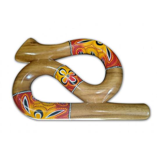 Etno art didgeridoo snake