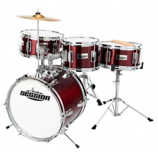 XDrum Session Junior bicí souprava - červená