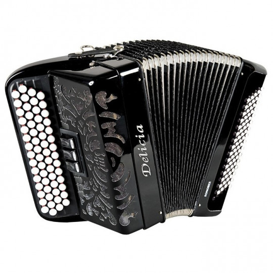 Delicia SONOREX 1234 - B-system - knoflíkový chromatický akordeon