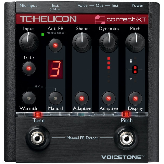 TC HELICON Voicetone Correct XT,intonátor, antifeedback