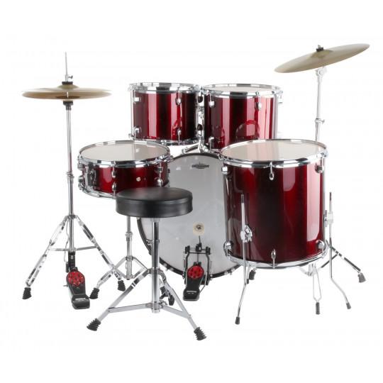 ROOCKIE XDrum Classic RED - kompletní bicí souprava