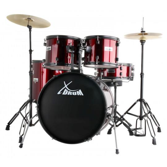 ROOCKIE XDrum Rookie RED - kompletní bicí souprava