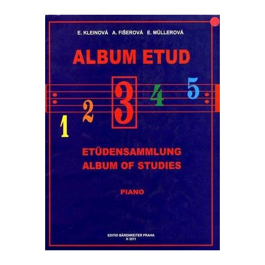 ALBUM ETUD 3 - PIANO, Kleinová, Fišerová, Müllerová