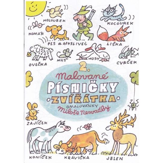 Malované písničky 2. - omalovánky Miloše Nesvadby