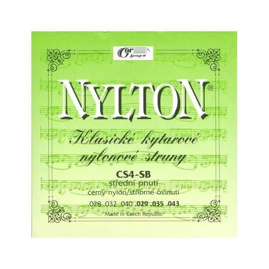 NYLTON CS4-SB struny kytarové black