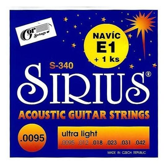 Sirius S-340 struny kytarové
