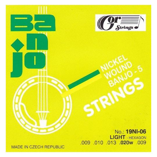 Struny banjo 19NI-06 sada  9-20