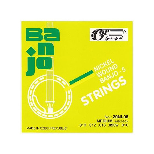 Struny banjo 20NI-06 sada 10-23
