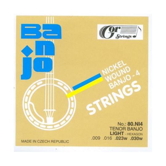 Struny tenor banjo 80NI4 sada, .009-.030w