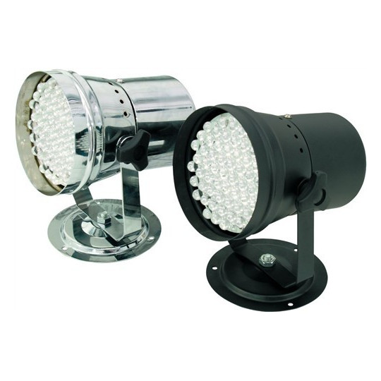 Eurolite LED PAR-36 RGB, černý, 55x 10mm LED