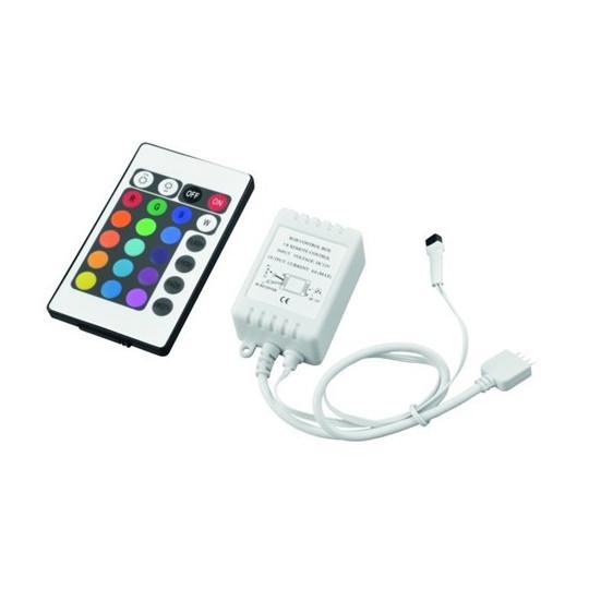 Eurolite kontrolér pro LED pásky RGB, IR, 24V
